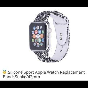 NIB snake print silicone sports band Apple watch